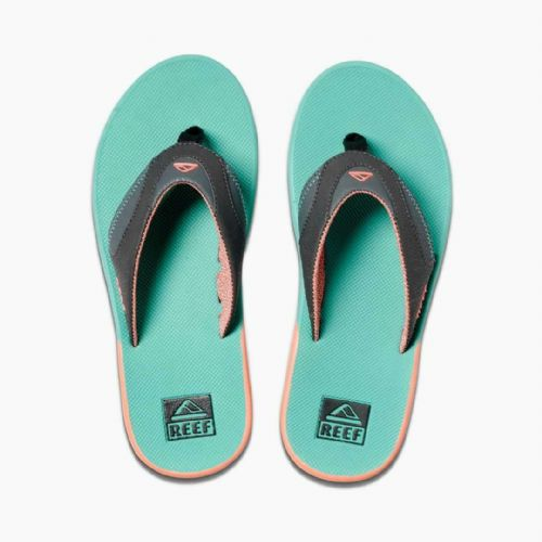 REEF MENS FLIP FLOPS.FANNING WATERMELON ARCH SUPPORT THONGS SANDALS SHOES 9W 26